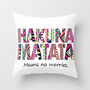 Hakuna Matata Throw Pillow by Amy Copp