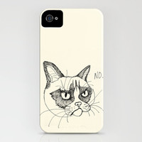 Grumpy Cat Doodle, Tardar Sauce Tard iPhone Case by Olechka | Society6