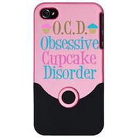 cute cupcake i phone 4 slider case by CafePress