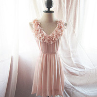 Blush Dusty Rose Petal Pink Angel Heart Love Vintage Lovely Misty Cute Dreamy Marie Antoinette Mille Feuille XOXO Spring Cutouts Dress