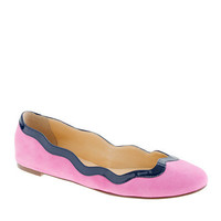 Scalloped ballet flats - ballet flats - Women&#x27;s shoes - J.Crew