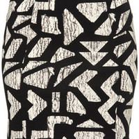 Aztec Print Bodycon Skirt - Skirts  - Clothing  - Topshop