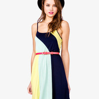 Colorblocked Spaghetti Strap Dress