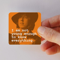 WILDE not old enough square magnet by BookFiend on Etsy