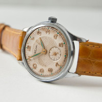 Unisex watch Kama Soviet military wristwatch white by SovietEra
