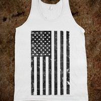 Black and White Vintage American Flag - Awesome fun #$!!*& - Skreened T-shirts, Organic Shirts, Hoodies, Kids Tees, Baby One-Pieces and Tote Bags