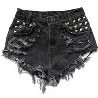 "ALL SIZES ""STUD"" High Waist Shorts"
