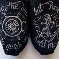 Wheel and Anchor TOMS by LamaLand on Etsy
