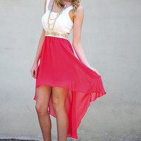 Feeling Hot Hot Hot Dress: Coral | Hope's