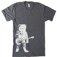 Mens Astronaut Guitar Outer Space T Shirt  American by lastearth