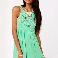 Crochet There! Mint Green Crochet Dress