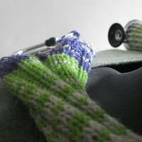 Stethoscope cover cozy in green white grey and by handmadefuzzy
