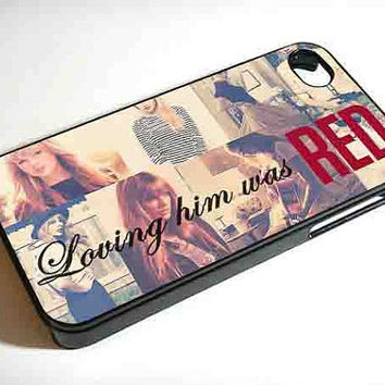 Taylor Swift Loving Him Was Red 65199AT  iPhone 4 / 4s by poshcase