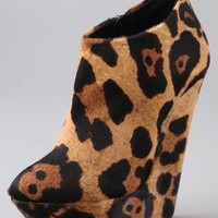 Giuseppe Zanotti Shoes Sculpted Platform Wedge Booties