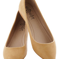 Defined the Scenes Flat in Cappuccino | Mod Retro Vintage Flats | ModCloth.com