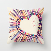 love in every color Throw Pillow by Shannonblue   Society6