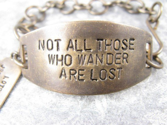 Not All those who wander are lost LOTR Bracelet by CobwebCorner