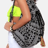 Billabong Sandy Streets Black and White Print Backpack
