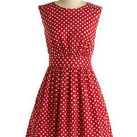 Too Much Fun Dress | Mod Retro Vintage Printed Dresses | ModCloth.com