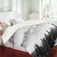 DENY Designs Home Accessories | Bird Wanna Whistle White Mountain Duvet Cover