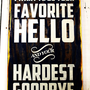 Typography Wood Sign - Favorite Hello Wall Decor
