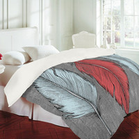 DENY Designs Home Accessories | Wesley Bird Feathered Duvet Cover