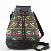 Black Poppy Womens Desert Trek Bucket Bag