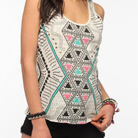 Workshop Geo Print Racerback Tank Top