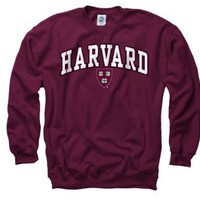 Harvard Crimson Youth Maroon Perennial II Crewneck Sweatshirt: Sports &amp; Outdoors