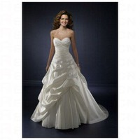 Chic White Satin Sweetheart Neckilne Rouched Skirt Wedding Dress