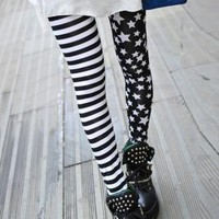 Stripe And Stars Printing Leggings