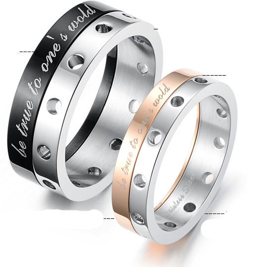Titanium Steel Rotating Promise Couple Ring - GULLEITRUSTMART.COM