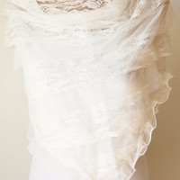 Wedding White Shawl,  Tulle Scarf, white scarf