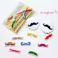 Easter Finger Mustache Temporary Tattoos by livelaughlovelots
