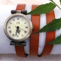 Women Leather Wrap Bracelet Watch. FREE SHIPPING