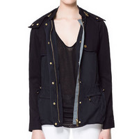JACKET WITH COMBINATION YOKE - Coats - Woman - ZARA United States