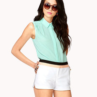Colorblocked Dolphin Shorts