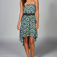 FULL TILT Ethnic Print Hi Low Tube Dress
