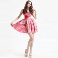 Bqueen Suspenders Printed Silk Dress Q10409F - Designer Shoes|Bqueenshoes.com