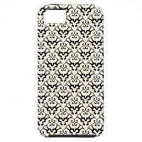 iPhone 5 damask-like black & cosmic latte case iPhone 5 Covers from Zazzle.com