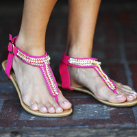 Gold Leaf Sandals: Pink Lemonade | Hope's
