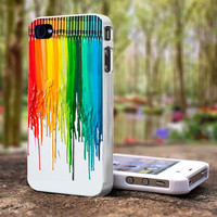 Crayon Painting Melted iPhone 5 Case iPhone 4S Case by cellcase