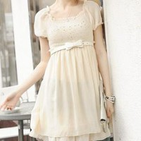 Princess Short sleeved round neck chiffon dress by amanda899