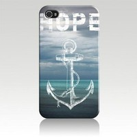 Hope Anchor Black Sides Hard Plastic Slim Snap On Case Cover for iphone 4/4s in EverestStar Box Packaging: Cell Phones &amp; Accessories