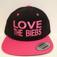 i love justin bieber love the biebs swaggy snapback one size fits all