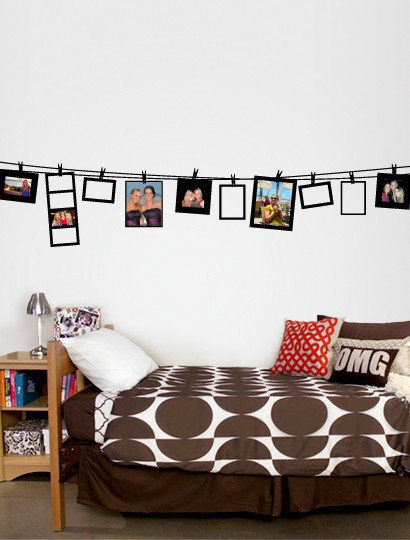 Large Clothesline Frames Decal  - Decals