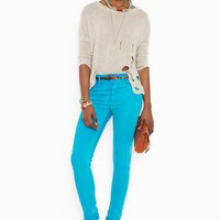 Lapis Skinny Jeans  in  What's New at Nasty Gal