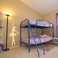 wall decal Ballerina 53 tall Vinyl Wall Art Decal Sticker on chuckebyrdwallart.com