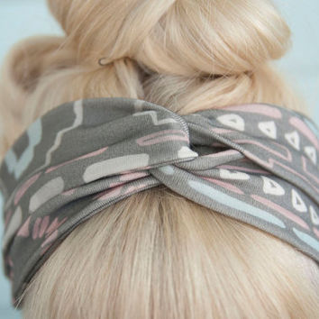 Desert Print Twisted Headband by leahgoren on Etsy