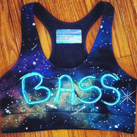 Light Up Sports Bra // Bass in Space Top by NeonWonderlandTemp